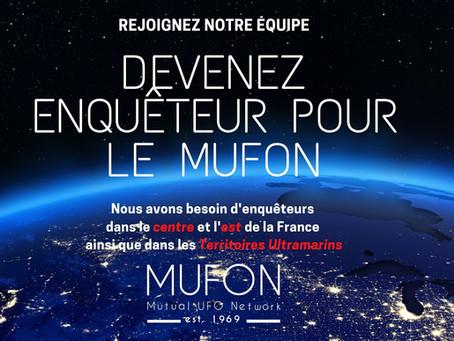 Devenir enquêteur du MUFON dans le centre et l'est de la France & Territoires Ultramarins!