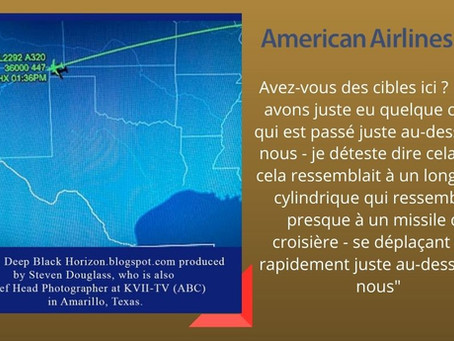 Lundi le vol 2292 d'American Airlines signale un objet volant inconnu.