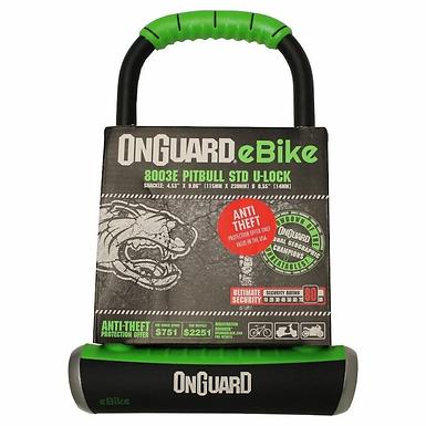 OnGuard Pitbull Standard U-Lock Keyed 11.5cm x 23cm D 14mm - e-Bike Series