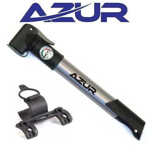 Azur Dual Head Mini Hand Pump w/ Gauge
