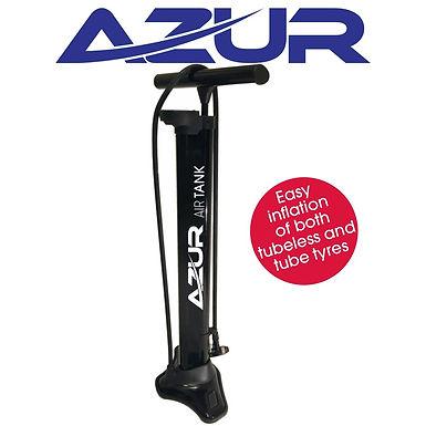 Azur Air Tank Tubeless Floor Pump Black