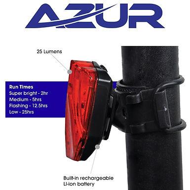 USB Shield 25 Lumens Tail Light