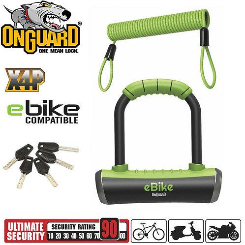 OnGuard Pitbull Mini Shackle E-Bike U-Lock W/ Keys - 14CM X 9CM X 14MM (8006E)