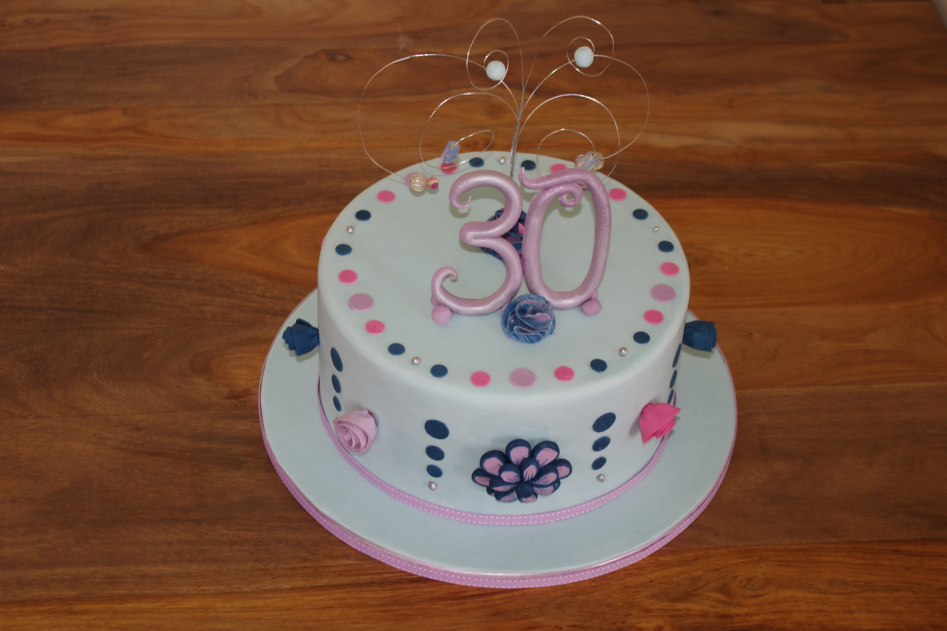 Floral 30th birthday cake
