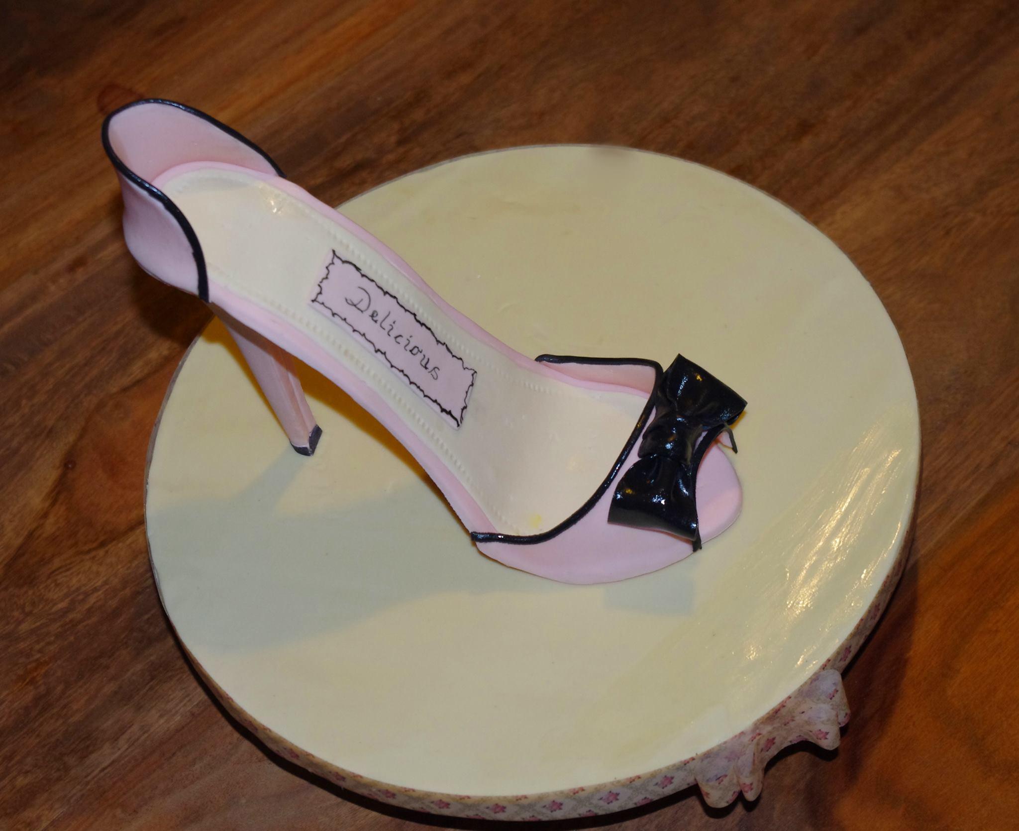Pink and Black Sugar Shoe
