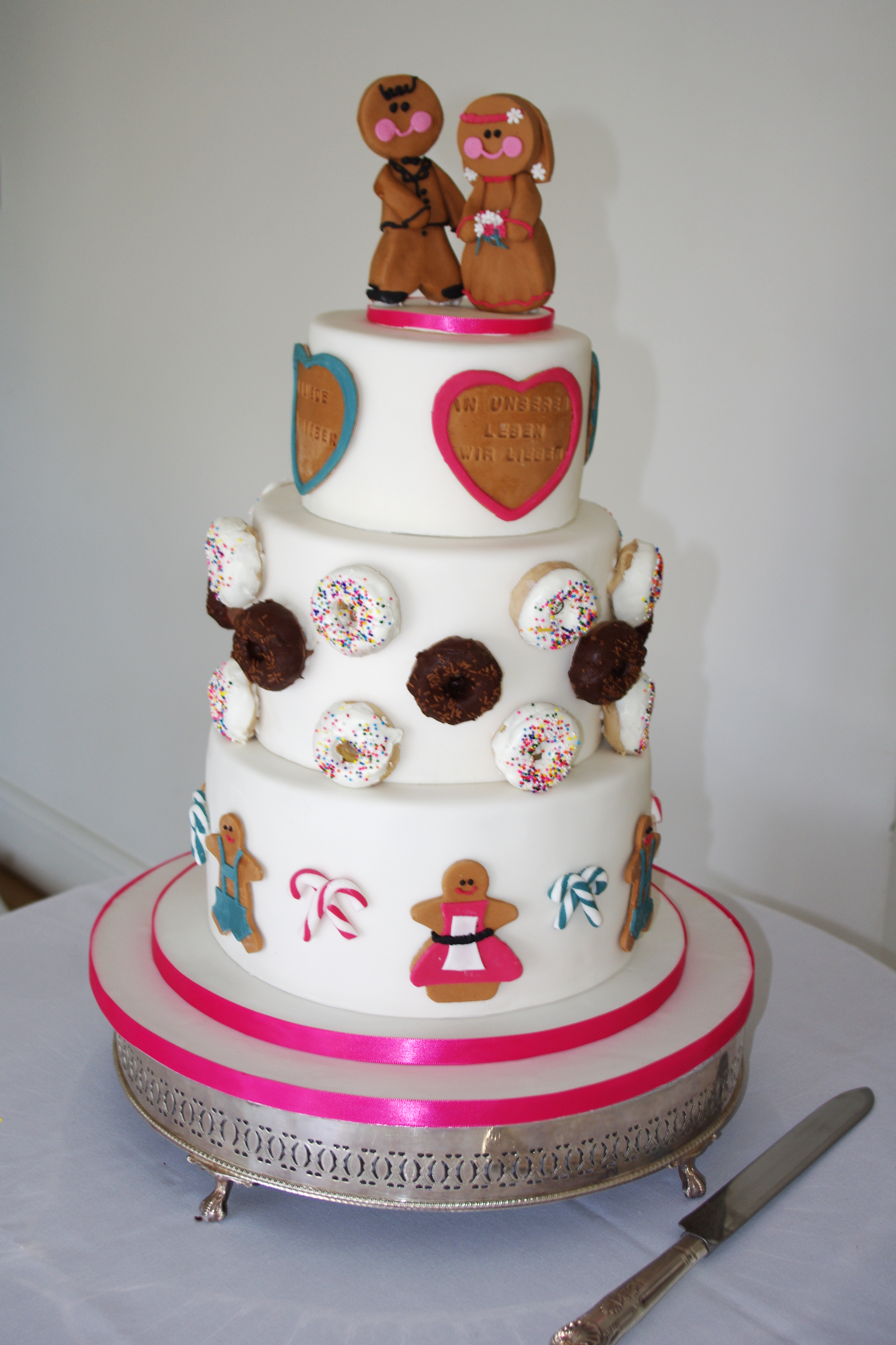 Gingerbread and Donut Wedding cake