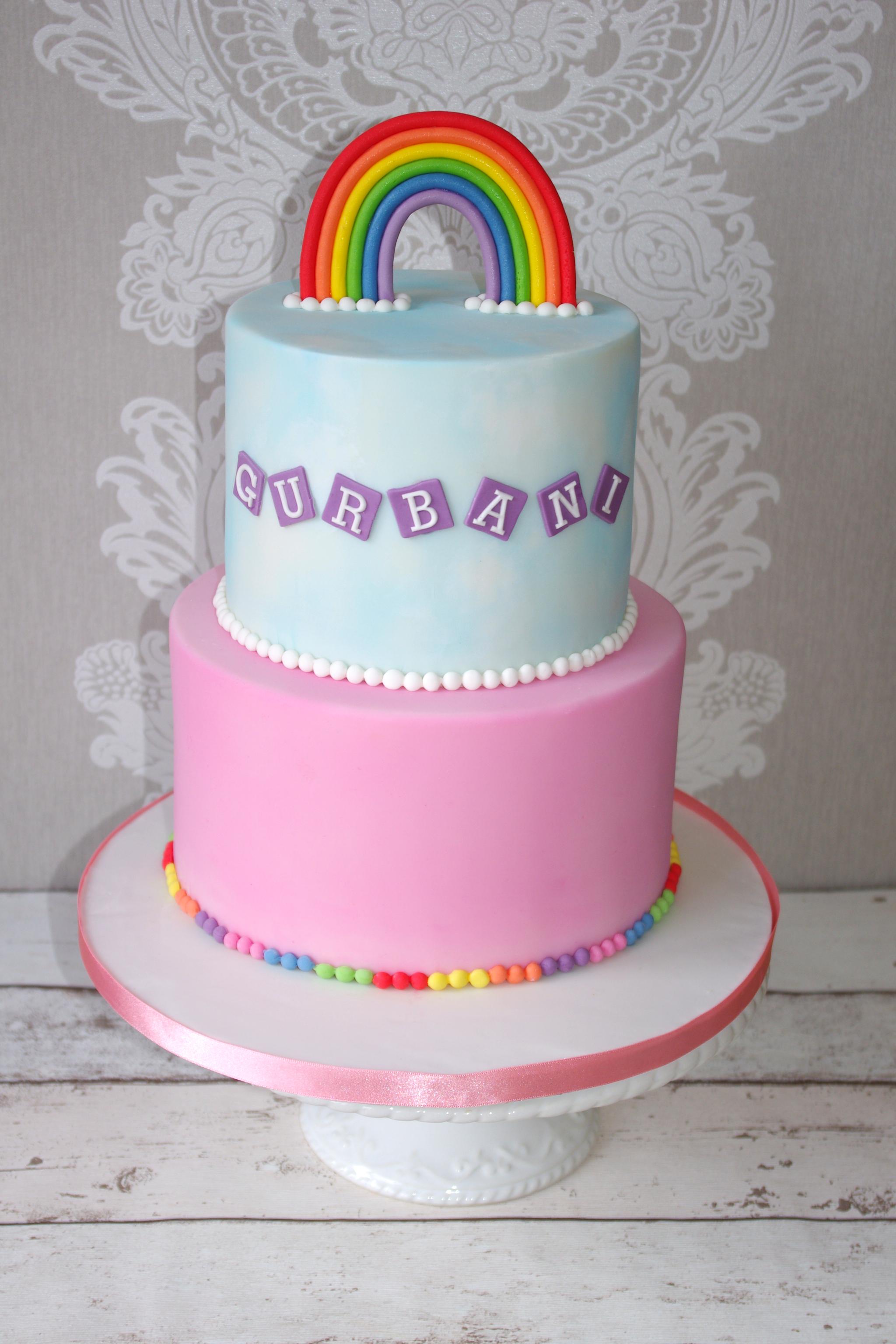 Rainbow and Sky cake