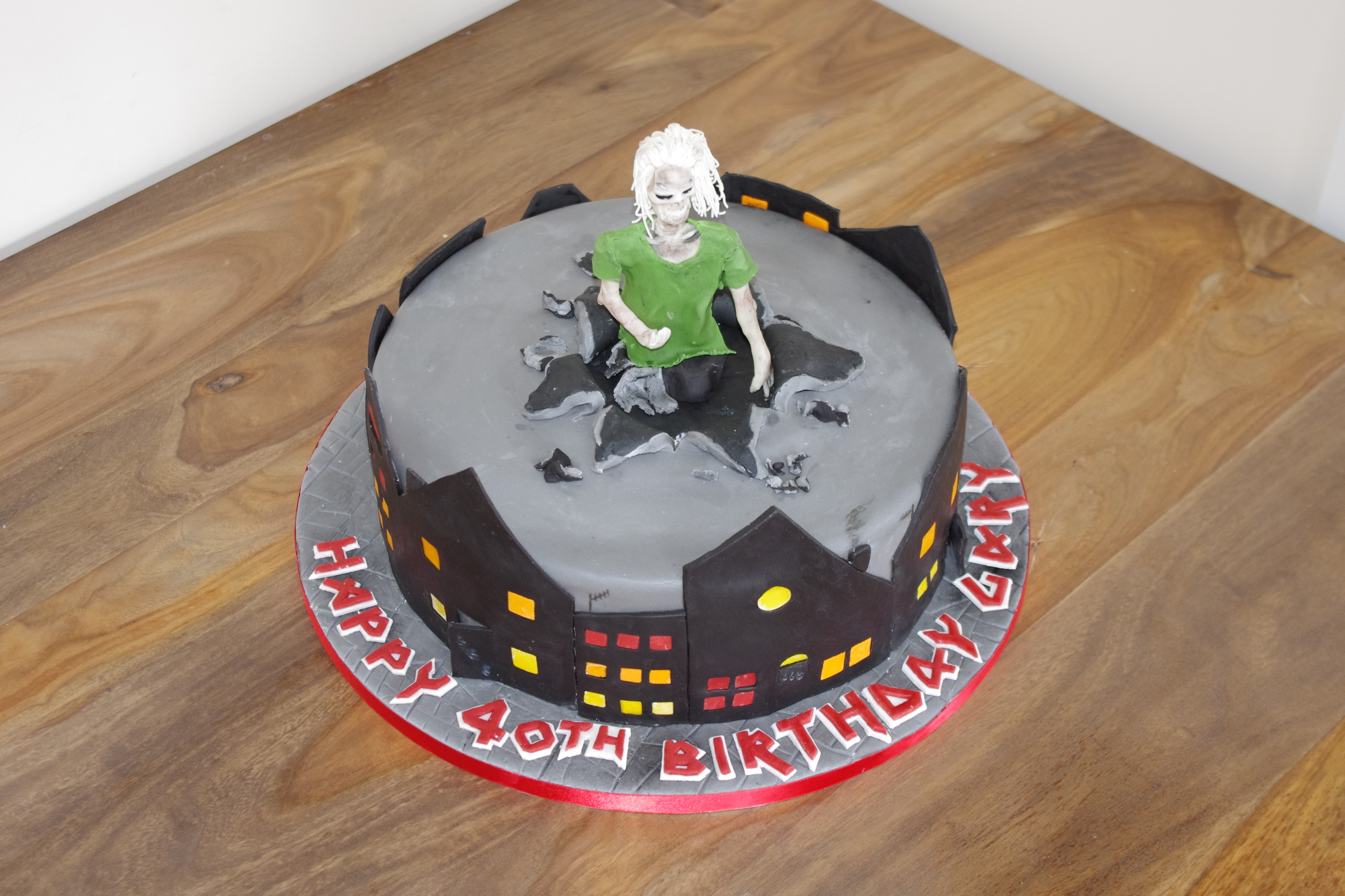 Iron Maiden Eddie cake