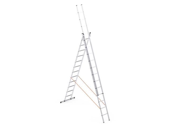 Triple Parts Aluminium type Ladder