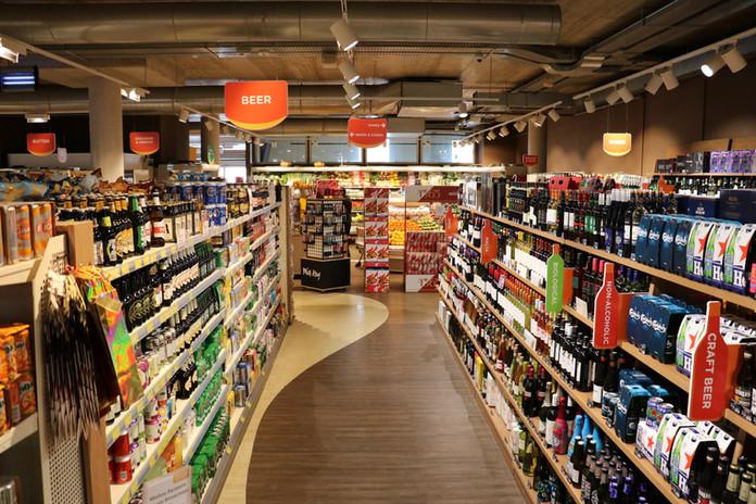Supermarket Aisle Shelving