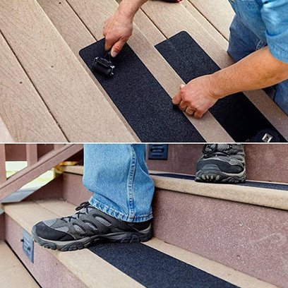 Anti-Slip Tape installed on stairs