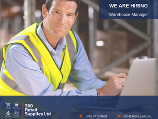 Vacancy - Warehouse Manager
