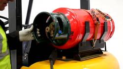 Propane Gas Cylinder on Forklift