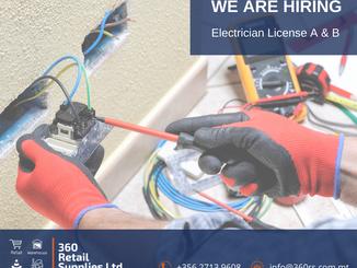 Vacancy - Electrician (License A & B)