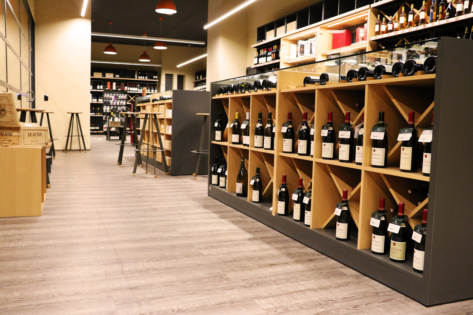 Wooden Wine Shelving