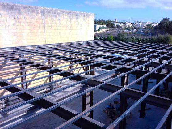 Metal Structure Under Construction