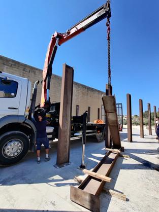Steel Column Support