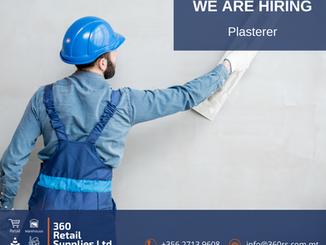 Vacancy - Plasterer
