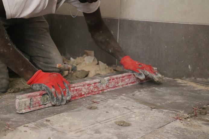 Leveling of Floor Tiling