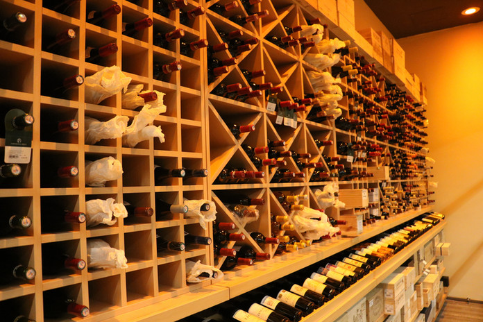 Tailor-Made Wine Shelving