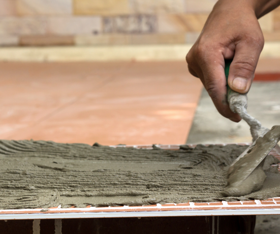 Laying Cement on Tiles
