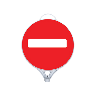One-Way Board Sign.
