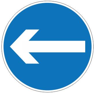 Turn Left Sign