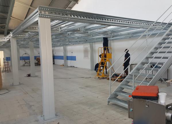 Process of constructing mezzanine