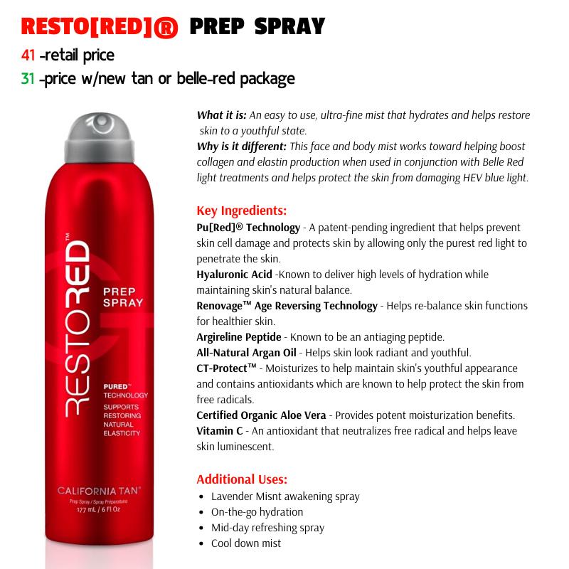 """RESTO[RED]"""" PREP SPRAY"""