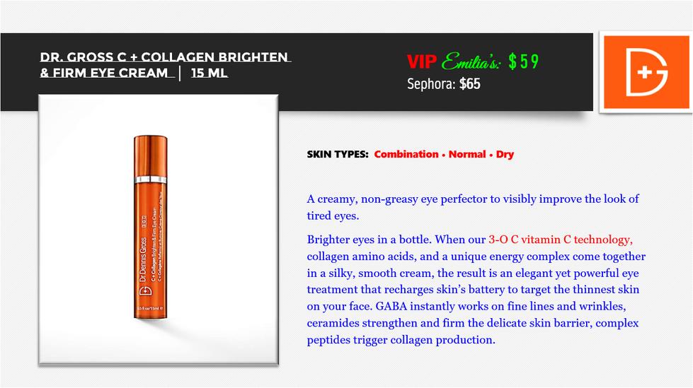 C + Collagen Brighten & Firm Eye Cream.P