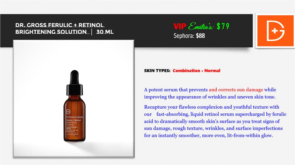 Ferulic + Retinol Brightening Solution.P
