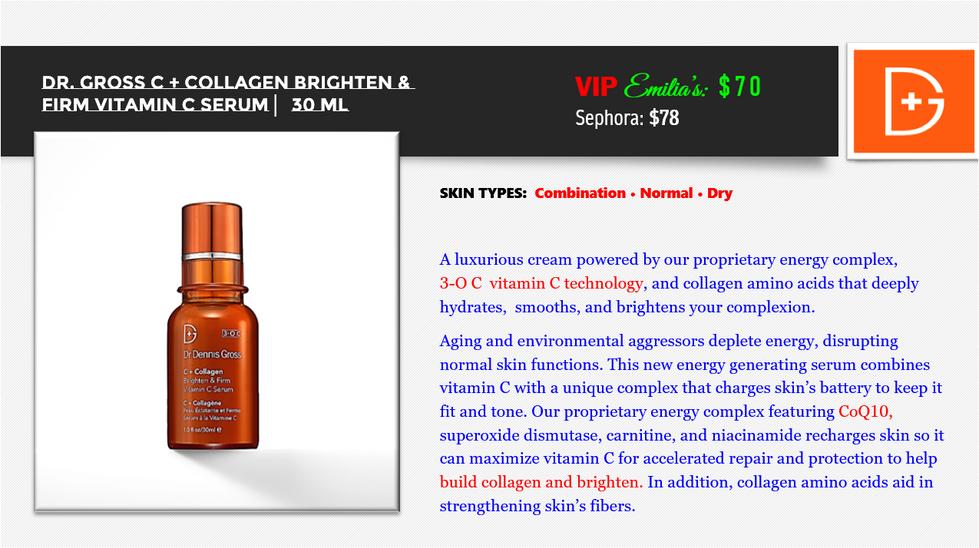 C + Collagen Brighten & Firm Vitamin C S
