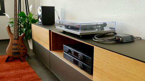Emerson ANALOG connected to audio setup