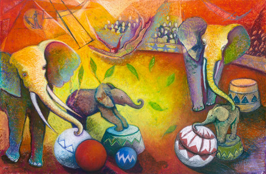 Chagalls Elephants