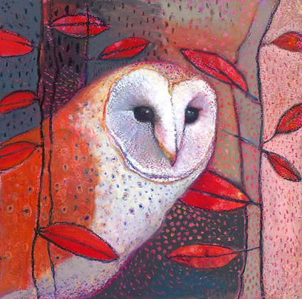Oil Pastel Owl Painting Tutorial