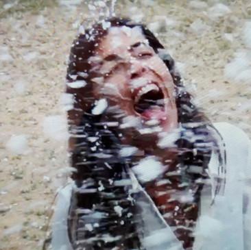 Primera prueba de máquina de nieve