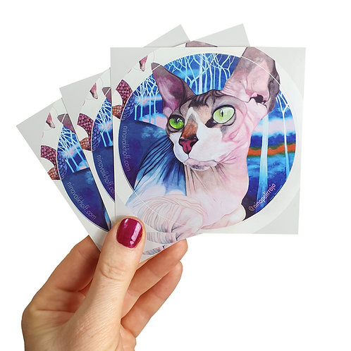 Set of 3 stickers 'Sphynx'