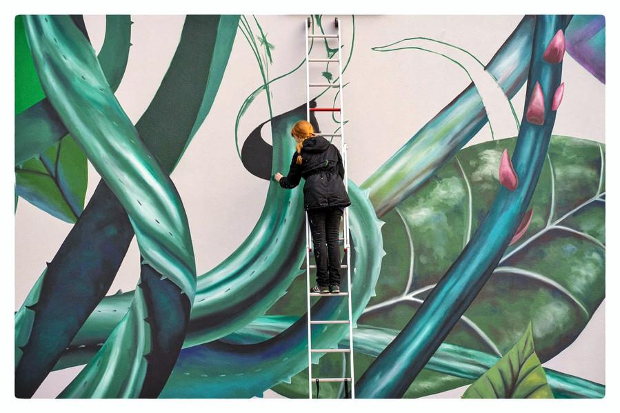 Mural Bumblebee Rotterdam