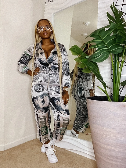 THE LOVE OF MONEY JUMPSUIT