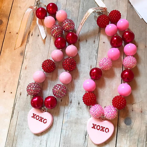 XOXO Heart Chunky Necklace
