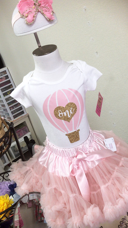 Pink Hot Air Balloon Bodysuit