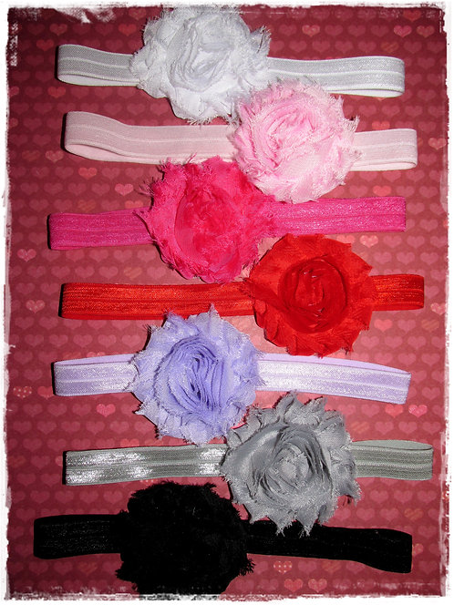 set of 7 Shabby headbands