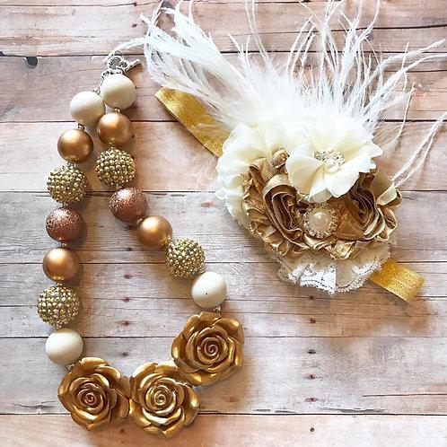 Chunky Necklace and headband set