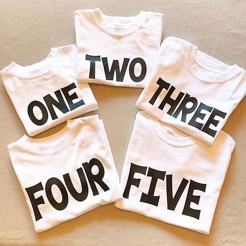 Shirt- Birthday Number shirt