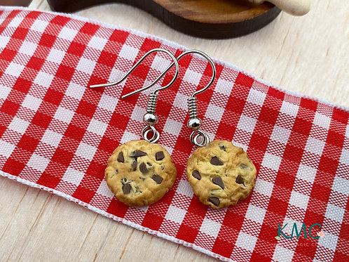 Chocolate Chip Cookie Dangle Earrings | Miniature Jewelry | Food Earrings