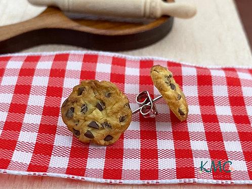 Chocolate Chip Cookie Earrings   Miniature Jewelry   Food Earrings