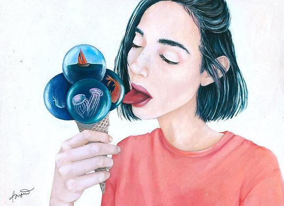 Sea Bubble Ice Cream by Brigitte Bregagna