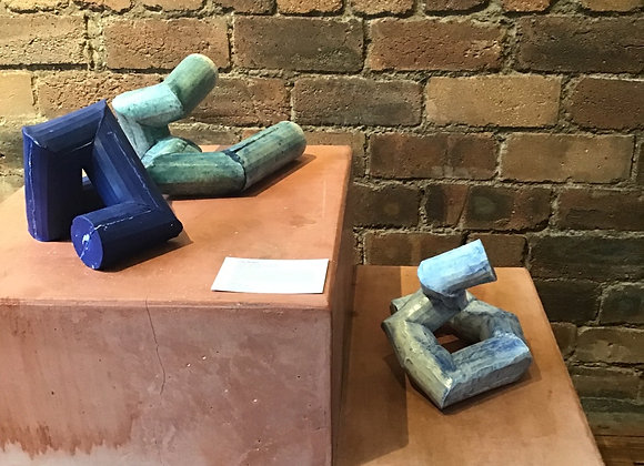 Ceramic Maquette of Sculpture 1 & 2 by Giles Watkins (Price for each)