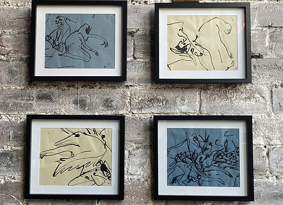 Untitled Drawings 1, 2, 3 & 4 by Helen Lee Robinson