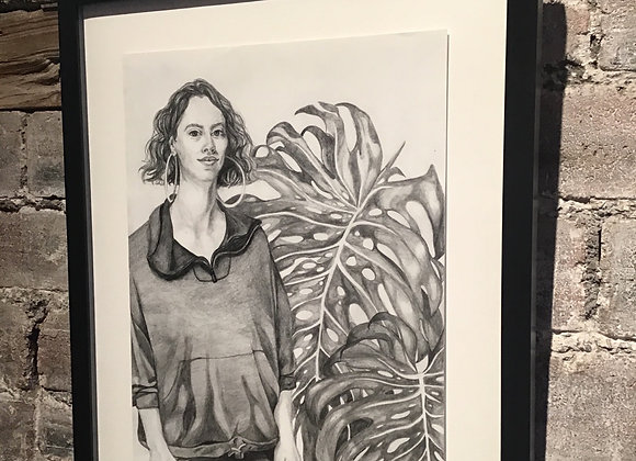 Girl with Monstera by Molly Hankinson